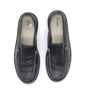 Simple brand leather slip on shoes SZ 8.5